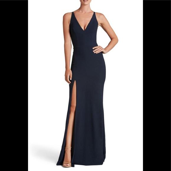 Dress the Population Dresses & Skirts - Dress The population iris slit crepe gown